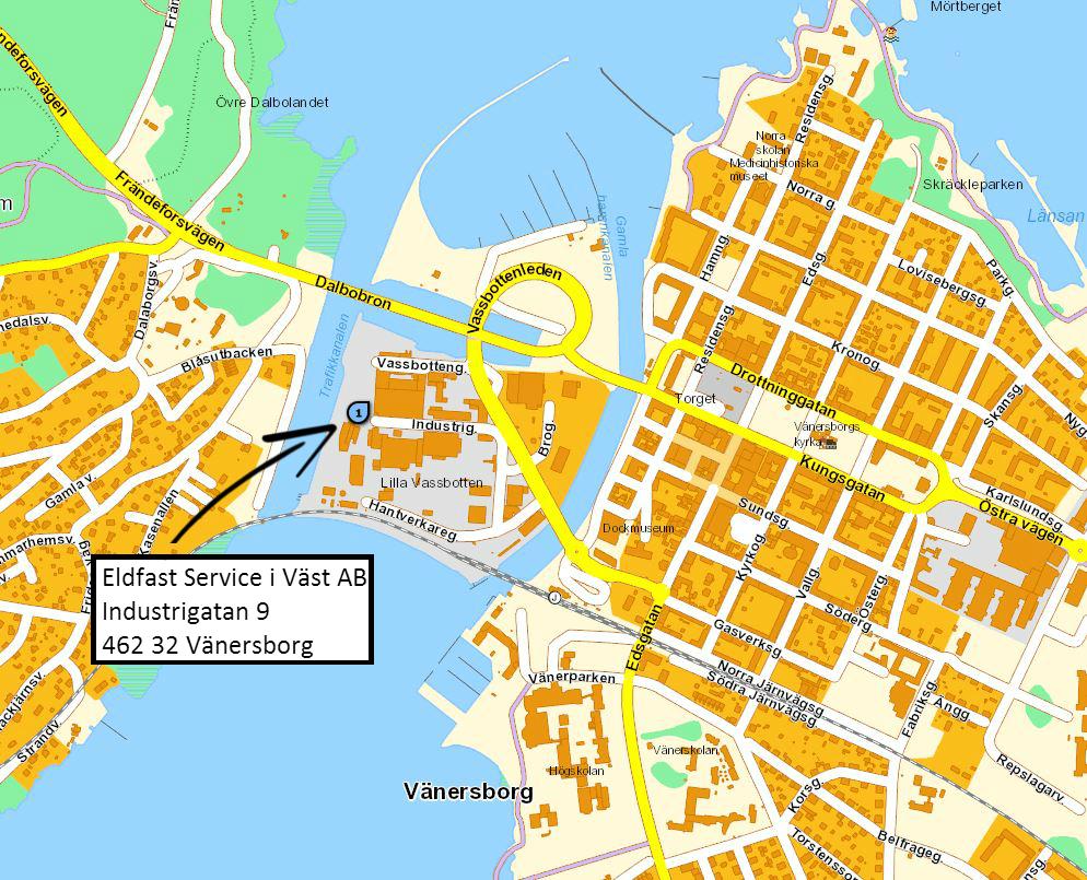 vänersborg karta Hitta till Eldfast Service vänersborg karta